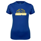 Ladies Syntrel Performance Royal Tee-2017 Western Athletic Conference Champions - Mens Basketball Half Ball