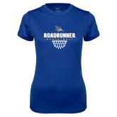 Ladies Syntrel Performance Royal Tee-Roadrunner Basketball Net Icon