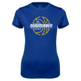 Ladies Syntrel Performance Royal Tee-Roadrunner Basketball Lined Ball
