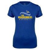 Ladies Syntrel Performance Royal Tee-CSUB Roadrunners Baseball Seam