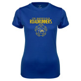 Ladies Syntrel Performance Royal Tee-Roadrunners Soccer Outlines