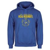 Royal Fleece Hoodie-Roadrunners Soccer Outlines