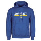 Royal Fleece Hoodie-CSU Bakersfield Softball Stencil