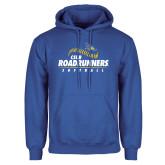 Royal Fleece Hoodie-CSUB Roadrunners Softball Seam