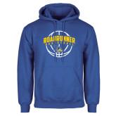 Royal Fleece Hoodie-Roadrunner Basketball Arched w/ Ball