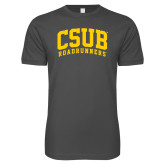 Next Level SoftStyle Charcoal T Shirt-Arched CSUB Roadrunners
