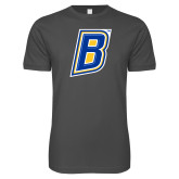 Next Level SoftStyle Charcoal T Shirt-B