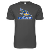 Next Level SoftStyle Charcoal T Shirt-Roadrunner Head Bakersfield