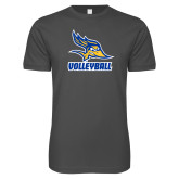 Next Level SoftStyle Charcoal T Shirt-Volleyball