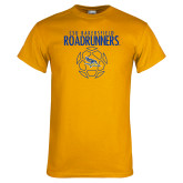 Gold T Shirt-Roadrunners Soccer Outlines