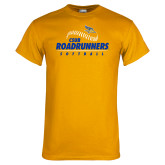 Gold T Shirt-CSUB Roadrunners Softball Seam