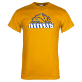 Gold T Shirt-2017 Western Athletic Conference Champions - Mens Basketball Half Ball
