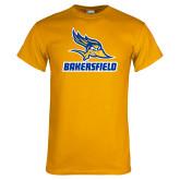 Gold T Shirt-Roadrunner Head Bakersfield