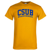 Gold T Shirt-Arched CSUB Roadrunners