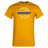 Gold T Shirt-Roadrunner Basketball Lined Ball