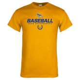 Gold T Shirt-Baseball Stencil w/ Ball