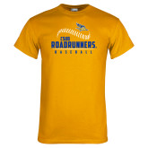 Gold T Shirt-CSUB Roadrunners Baseball Seam