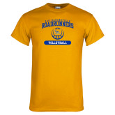 Gold T Shirt-CSU Bakersfield Roadrunners Arched Volleyball