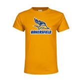 Youth Gold T Shirt-Roadrunner Head Bakersfield