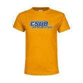 Youth Gold T Shirt-CSUB Roadrunners