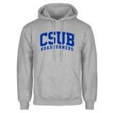 Grey Fleece Hoodie-Arched CSUB Roadrunners