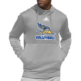 Adidas Grey Team Issue Hoodie-Volleyball