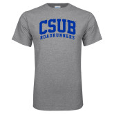Grey T Shirt-Arched CSUB Roadrunners
