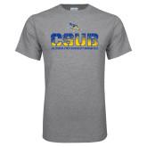Sport Grey T Shirt-CSUB Splatter Texture