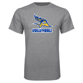 Grey T Shirt-Volleyball