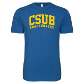 Next Level SoftStyle Royal T Shirt-Arched CSUB Roadrunners