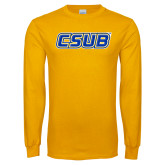 Gold Long Sleeve T Shirt-CSUB
