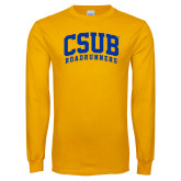 Gold Long Sleeve T Shirt-Arched CSUB Roadrunners