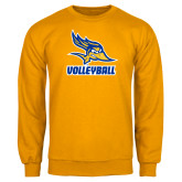 Gold Fleece Crew-Volleyball