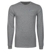 Grey Long Sleeve T Shirt-CSU Bakersfield Roadrunners