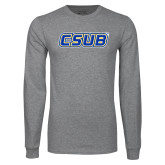 Grey Long Sleeve T Shirt-CSUB
