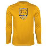 Syntrel Performance Gold Longsleeve Shirt-Soccer Shield