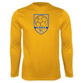 Performance Gold Longsleeve Shirt-Soccer Shield