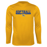Syntrel Performance Gold Longsleeve Shirt-CSU Bakersfield Softball Stencil