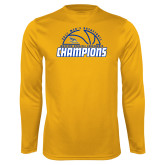 Syntrel Performance Gold Longsleeve Shirt-2017 Western Athletic Conference Champions - Mens Basketball Half Ball