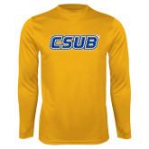 Performance Gold Longsleeve Shirt-CSUB