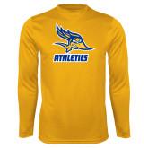 Performance Gold Longsleeve Shirt-Athletics