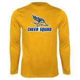 Performance Gold Longsleeve Shirt-Cheer Squad