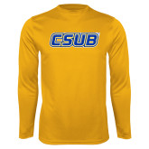 Syntrel Performance Gold Longsleeve Shirt-CSUB