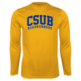Performance Gold Longsleeve Shirt-Arched CSUB Roadrunners