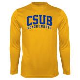 Performance Gold Longsleeve Shirt-Arched CSUB Roadrunners