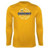 Performance Gold Longsleeve Shirt-Roadrunner Basketball Lined Ball