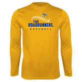 Syntrel Performance Gold Longsleeve Shirt-CSUB Roadrunners Baseball Seam