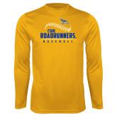 Performance Gold Longsleeve Shirt-CSUB Roadrunners Baseball Seam