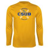 Performance Gold Longsleeve Shirt-CSUB Baseball Circle Seams