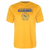 Performance Gold Tee-Roadrunners Soccer Outlines